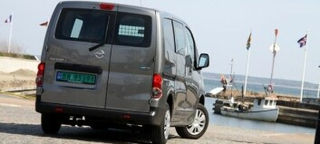 Elektrisk Nissan varebil fra Spania