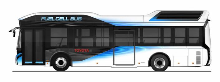 Toyota hydrogen-buss<br><br>