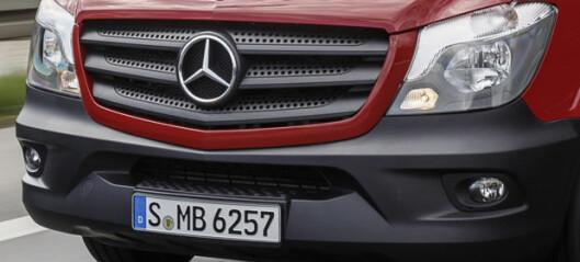 Mercedes skal bygge elektrisk Sprinter i Tyskland