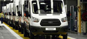 Ford øker Transit-produksjonen med 40.000 i året