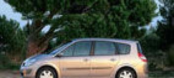 Renault Grand Scenic godkjent som varebil