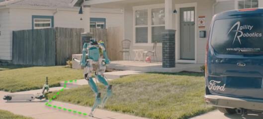 Robot og varebil - hånd i hånd