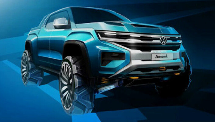 Første offisielle glimt av nye Volkswagen Amarok