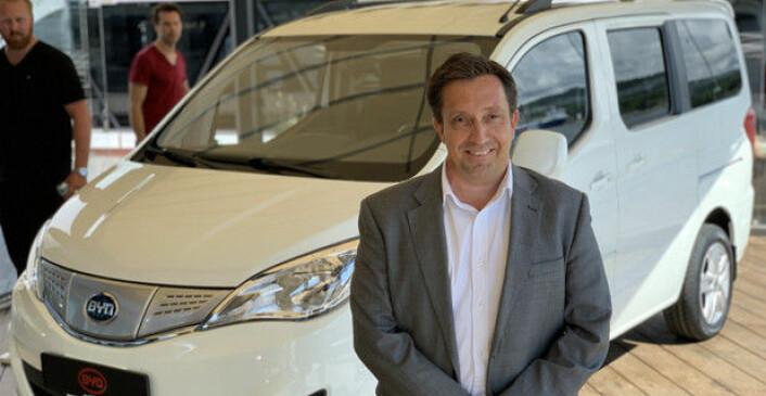 HAR STORE PLANER: Espen Kristoffersen, kommersiell direktør for New Energy Vehicles i RSA. Foto: Brede Høgseth Wardrum