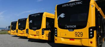 Åtte elektriske shuttlebusser på Gardermoen