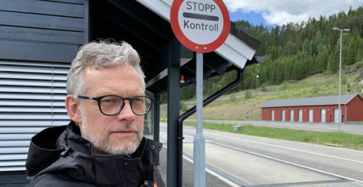 KLAR FOR KONTROLL: Kjetil Wigdel, leder for utekontroll i Statens vegvesen, sier til YrkesBil at de skal følge tett med på tungbilers vinterutrustning. Foto: Statens Vegvesen