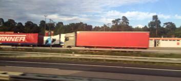 Nedgang i godstransport med utenlandske lastebiler