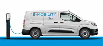 Flere elektriske varebiler fra PSA