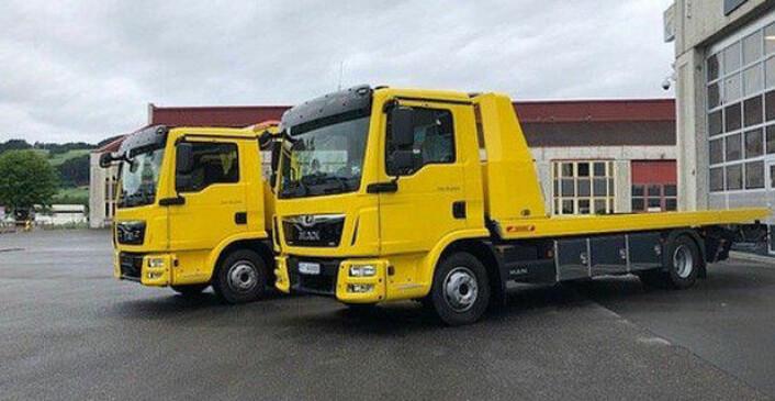 Bilberging Innlandet AS er et av selskapene som valgte å bygge bergingsbil på MAN-chassis i fjor. De fikk utlevert to nye TGL 12.220 4X2 BL i juli. Foto: MAN Truck & Bus Norge