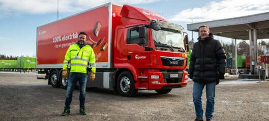 Posten tar i bruk 26 tonns elektrisk lastebil