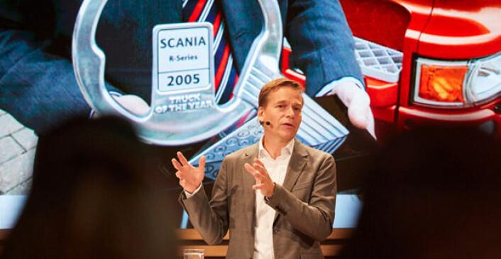 Scanias nye toppsjef, Christian Levin, kommer fra stillingen som Chief Operating Officer i Traton Group, selskapet som eier Scania. Foto: Traton
