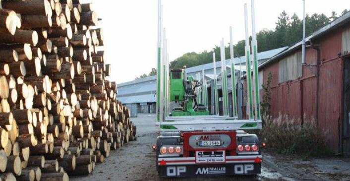 For 2021 er det satt av 20 millioner kroner til utbedringer av fylkesveier som er viktige for tømmertransport. Illustrasjonsfoto: Brede Høgseth Wardrum