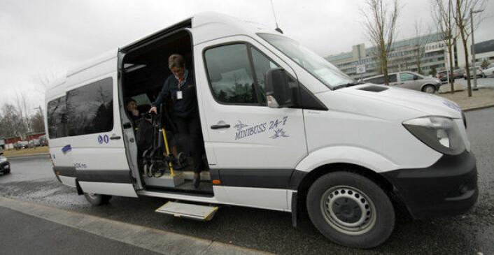 Minibuss 24-7 har vokst mye på kort tid og har i dag 215 egne kjøretøy. Bildet er tatt ved en tidligere anledning. Foto: Brede Høgseth Wardrum
