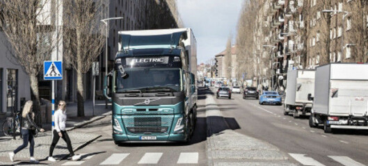 Lyden av elektrisk lastebil