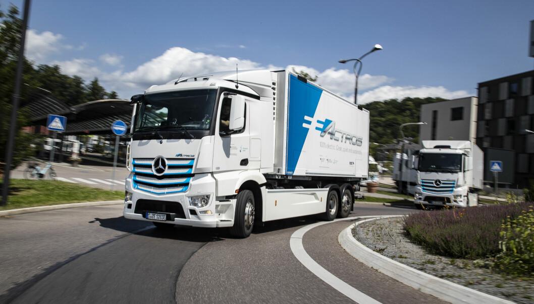 Mercedes-Benz Trucks varsler nå at batterielektriske eActros får sin verdenspremiere i slutten av juni.