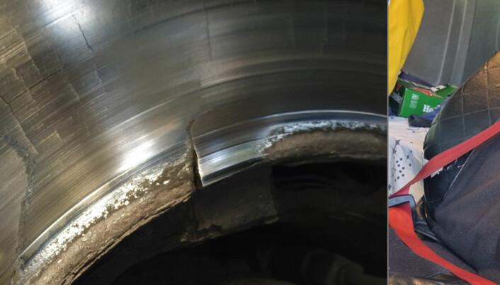 Avdekket sprukne bremseskiver og sjåfører som sitter på beltet