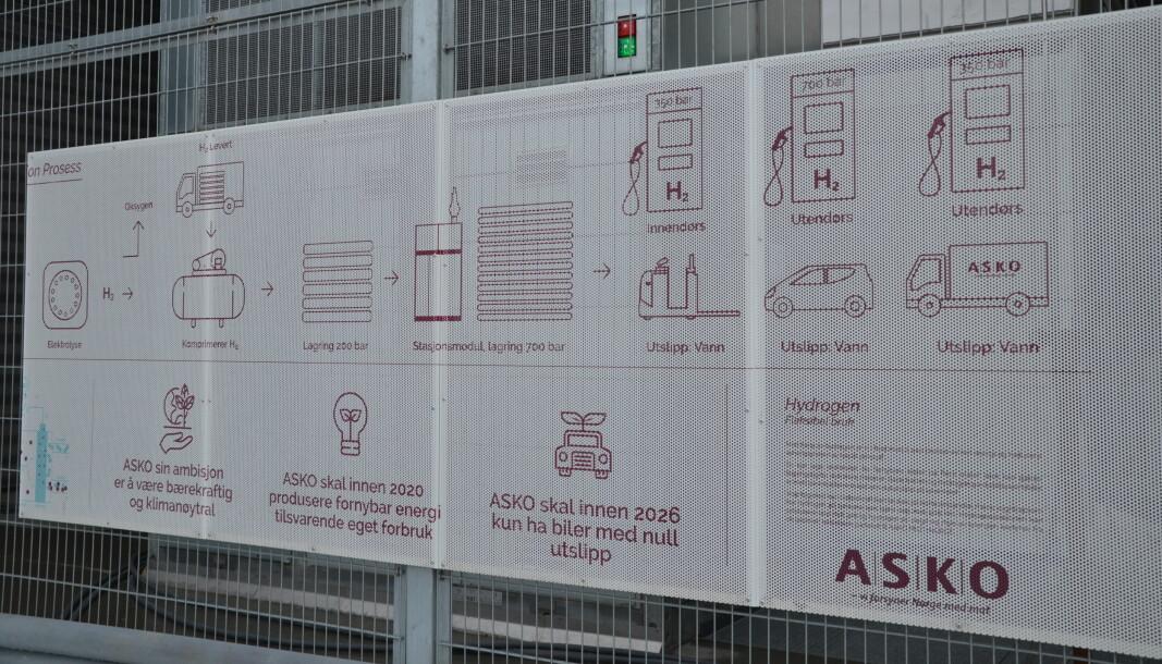 Asko har hatt en langsiktig plan på overgang til lav- og nullutslippsløsninger, deriblant hydrogen.