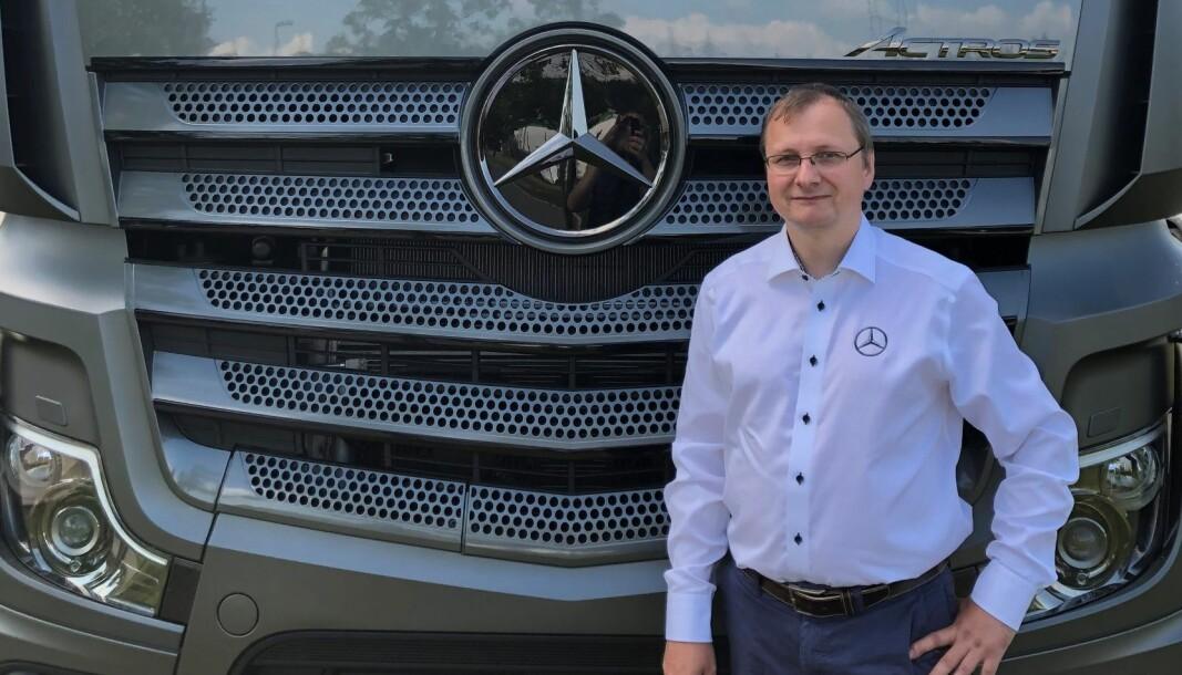 — Jeg er veldig glad for å kunne bidra med å bygge innovasjonskompetanse på e-mobilitet for lastebil i Bertel O. Steen, sier Sebastian Blum.