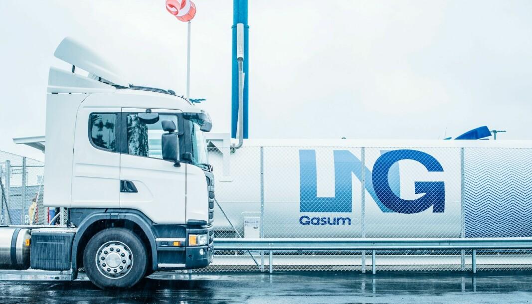 Gasum har åpnet en ny fyllestasjon med både flytende og komprimert gass i Midt-Norge. (Bildet er tatt ved en annen stasjon)