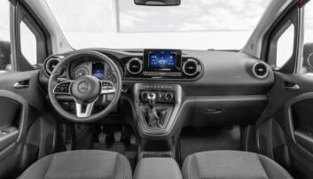 Interiøret i nye Mercedes-Benz Citan.